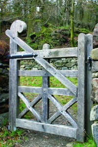 Wooden Made to measure oak gates from Wales UK