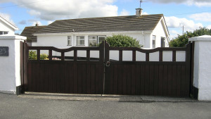 Wooden Made to Measure Penrhyn Town Gate