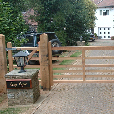 Town Wooden Gates, Bespoke Hand Made in UK